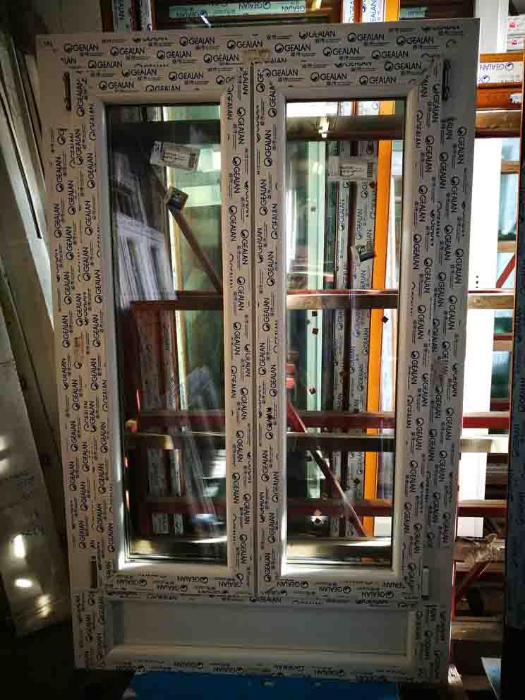 finestra in pvc 2 ante con sottoluce in offerta bianca
