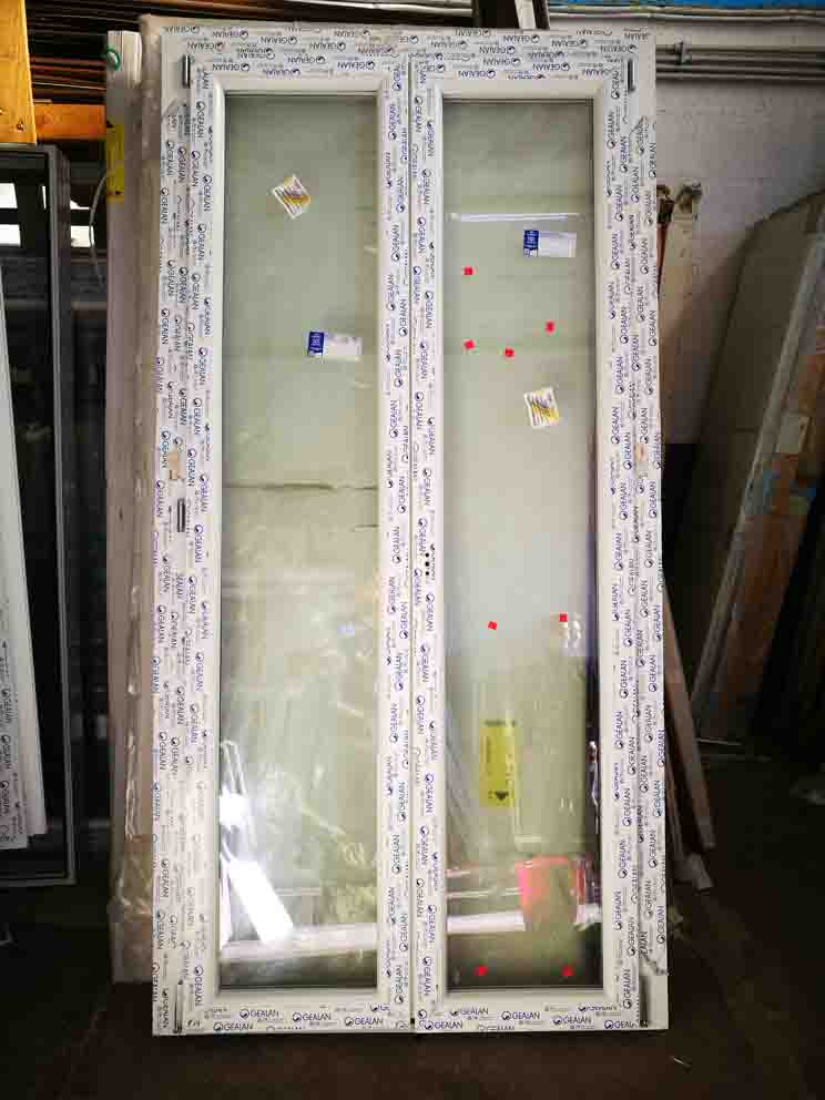 porta finestra in pvc 2 ante in offerta bianca